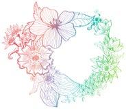 浪漫背景五颜六色的花 库存图片