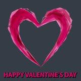 浪漫背景的例证与心脏的 免版税库存图片