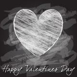 浪漫背景的例证与心脏dra的 免版税库存照片