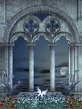 浪漫背景的晚上 库存照片