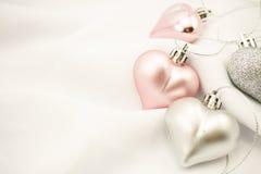 浪漫背景的甜颜色心脏 库存照片