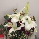 浪漫花的花束 库存照片