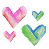 浪漫蓝色心脏样式 假日设计的传染媒介例证 免版税库存照片