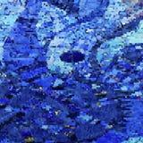 浪漫蓝色意想不到的几何背景 库存照片