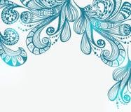 浪漫蓝色花卉背景 免版税库存图片