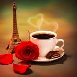 浪漫行程向法国 库存照片