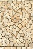 浪漫装饰石头马赛克 库存照片