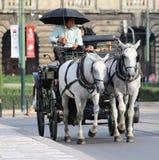 浪漫运输布拉格 免版税库存照片