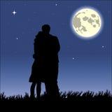 浪漫黑色的晚上 库存图片