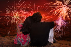浪漫Diwali 免版税库存照片
