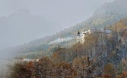 浪漫Tratzberg城堡在提洛尔奥地利 免版税库存照片