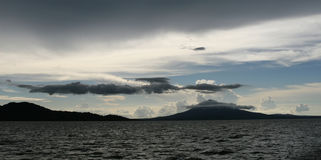 浪潮起伏的湖尼加拉瓜 免版税库存图片