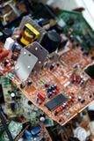 浪费委员会电子,微型电路,电容器 免版税库存照片