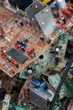 浪费委员会电子,微型电路,电容器 库存图片