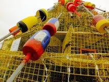浮体和虾笼 库存图片