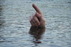 浮体手指 免版税库存图片