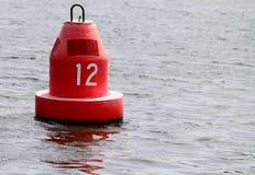 浮体标记红色 库存图片
