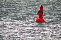 浮体面板红色太阳 库存图片