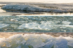 浮冰冰三张相联 免版税库存图片