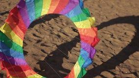 浮动多彩多姿的降伞 股票录像