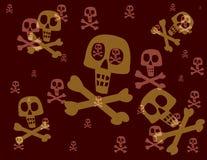 浮动头骨的两骨交叉图形 免版税库存照片