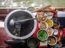 浮动市场在曼谷,泰国 免版税图库摄影