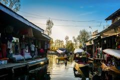 浮动市场, Dal湖,克什米尔 免版税库存照片
