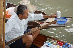 浮动市场, Damnoen Saduak,泰国 免版税库存照片