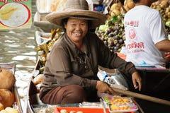 浮动市场, Damnoen Saduak,泰国 库存图片