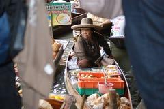 浮动市场, Damnoen Saduak,泰国 库存照片