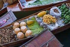 浮动市场, Damnoen Saduak,泰国 免版税图库摄影