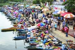 浮动市场Klonghae 库存照片