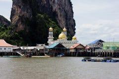 浮动村庄普吉岛泰国 免版税图库摄影