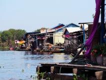 浮动村庄,洞里萨湖,暹粒,柬埔寨 库存图片