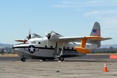 浮动海军飞机 免版税库存照片