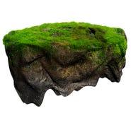 浮动海岛3d模型和数字式例证 免版税库存照片