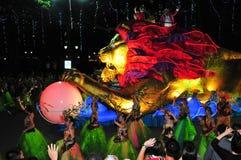 浮动狮子新加坡 免版税库存照片