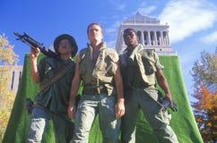 浮动的三位战士 免版税库存图片