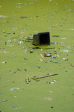 浮动的垃圾 免版税库存图片