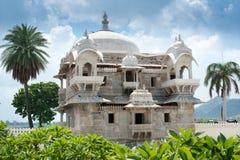 浮动的宫殿, Udaipur,印度 免版税库存照片