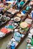 浮动的市场传统的泰国 免版税库存图片