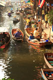 浮动的市场泰国 图库摄影