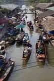 浮动的市场泰国 免版税库存照片