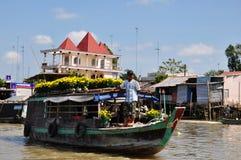 浮动的市场越南 图库摄影