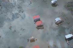 浮动的村庄在柬埔寨 免版税库存照片