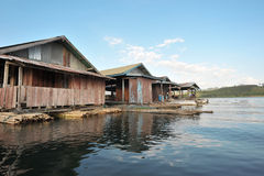 浮动的村庄 图库摄影