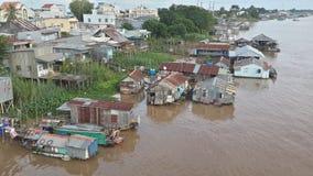 浮动的村庄 免版税库存照片