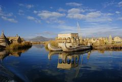 浮动的海岛 免版税库存图片