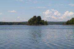 浮动的海岛 库存图片