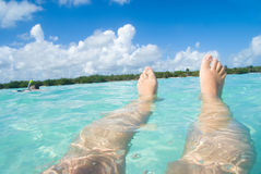 浮动的盐水湖 库存照片